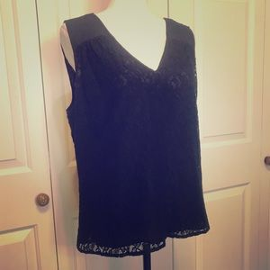 • Black Lace Sleeveless Blouse w/ Cutout - laundry